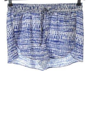 H&M Hot Pants blau-weiß Casual-Look