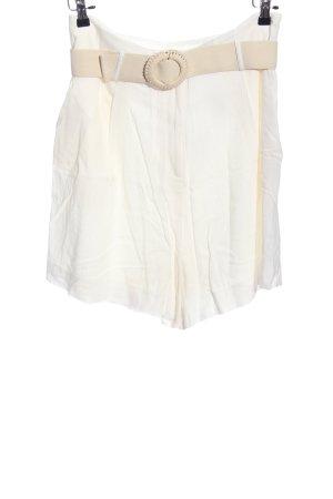 H&M High-Waist-Shorts wollweiß-weiß Casual-Look
