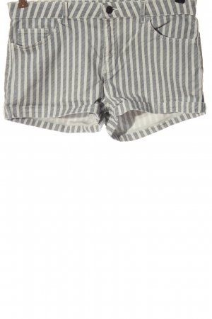 H&M Hot pants lichtgrijs-wolwit gestreept patroon casual uitstraling