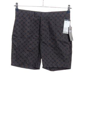 H&M Hot Pants schwarz-braun Allover-Druck Casual-Look