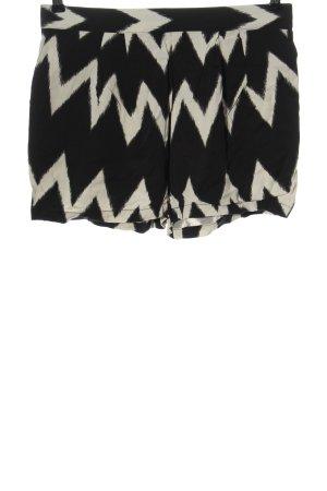 H&M Hot pants zwart-wolwit grafisch patroon casual uitstraling