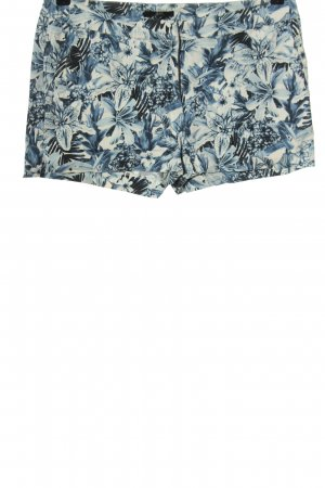 H&M Hot pants blauw-wit volledige print casual uitstraling
