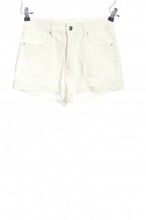 H&M Hot Pants weiß Casual-Look
