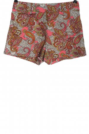 H&M Hot Pants pink-weiß abstraktes Muster Elegant