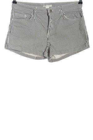 H&M Hot Pants weiß-schwarz Allover-Druck Casual-Look