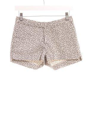 H&M Hot Pants creme-schwarz Farbtupfermuster Casual-Look