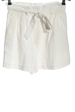 H&M Krótkie szorty biały Na całej powierzchni W stylu casual