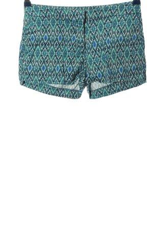 H&M Hot Pants blau-türkis Allover-Druck Casual-Look