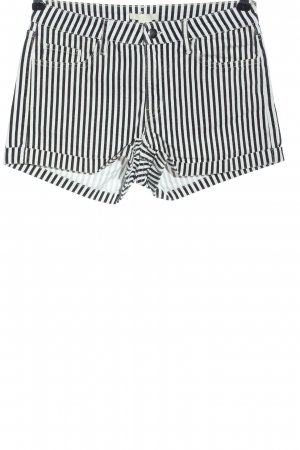 H&M Hot pants nero-bianco stampa integrale stile casual