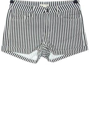 H&M Krótkie szorty czarny-biały Na całej powierzchni W stylu casual