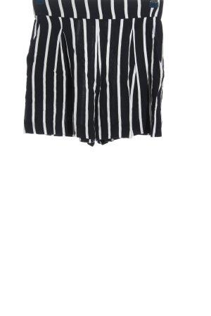 H&M Short moulant noir-blanc motif rayé style décontracté