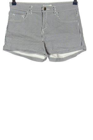 H&M Hot Pants schwarz-weiß Allover-Druck Casual-Look