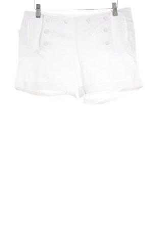 H&M Hot Pants weiß sportlicher Stil