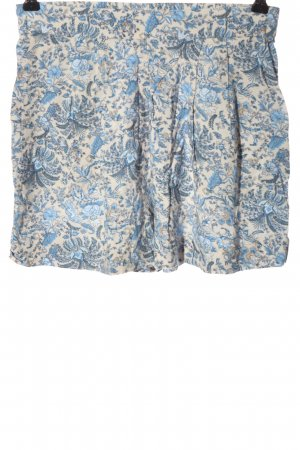 H&M Hot Pants wollweiß-blau Allover-Druck Casual-Look