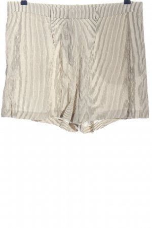 H&M Hot Pants wollweiß-schwarz Streifenmuster Casual-Look