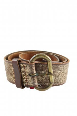 H&M Hip Belt brown-gold-colored abstract pattern casual look