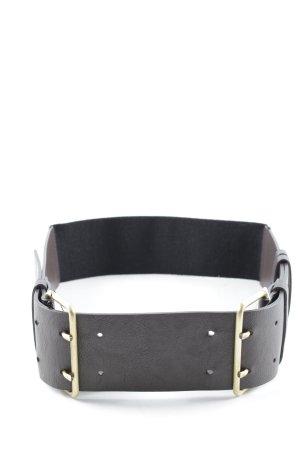 H&M Hüftgürtel schwarz-dunkelbraun Casual-Look