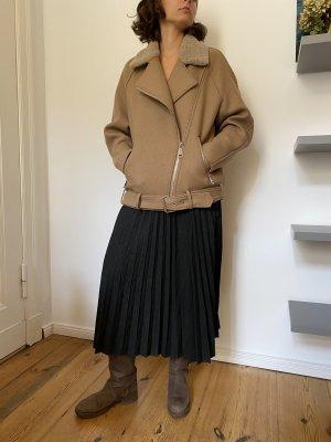 H&M Kurtka oversize beżowy-jasnobeżowy