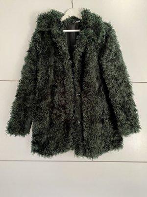 H&M Fur Jacket dark green