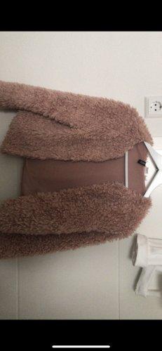 Devided von H&M Fur Jacket light pink-pink