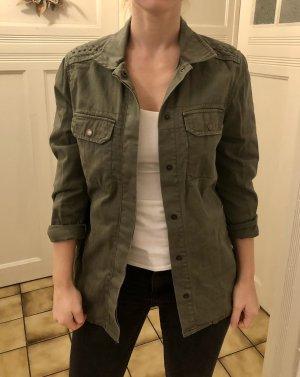 H&M Jacke Army Military khaki 36 S oversized - Versandkostenfrei