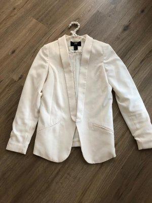 H&M Blazer Boyfriend blanco puro-beige claro
