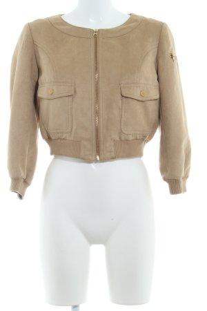 H&M Kurtka z imitacji skóry camel Prosty styl