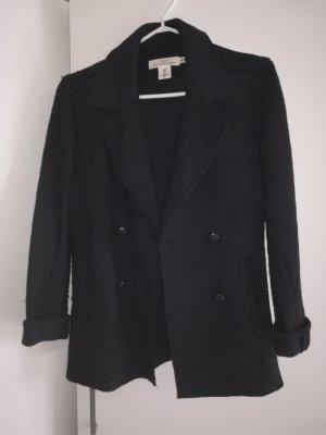 H&M Blouse Jacket black wool