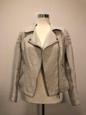 H&M Biker Jacket oatmeal cotton