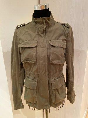 H&M Kurtka przejściowa zielono-szary-khaki