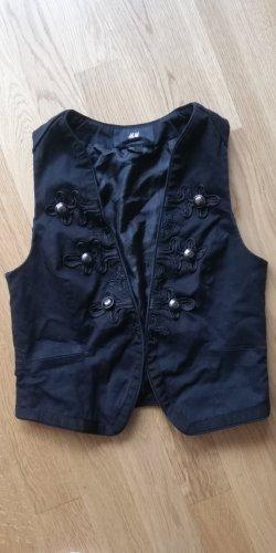 H&M Blazer in jeans nero-argento