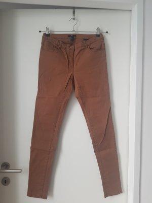 H&M Jeansy z prostymi nogawkami brąz