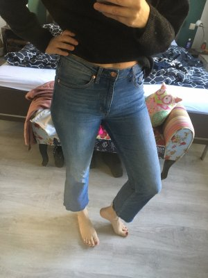 H&M Hoge taille jeans staalblauw