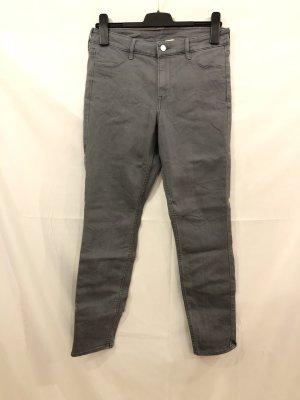 H&M Jeans grau Ankle Skinny Regular Waist 30