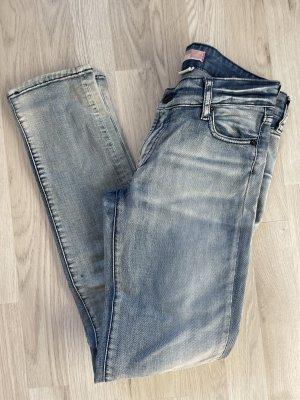 H&M Jeans Hose gr 27 Low Waist Helle Waschung blau