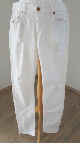 Jeans stretch blanc