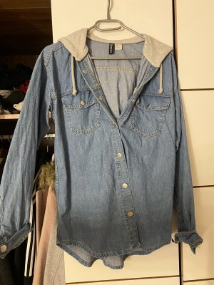 H&M Bluzka jeansowa jasnoszary-chabrowy