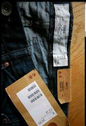 H&M Jeans a gamba dritta blu scuro