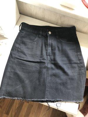H&M Jeans Rock Schwarz Grau 34