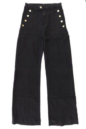 H&M Jeans Schlaghose Größe 36 schwarz aus Baumwolle