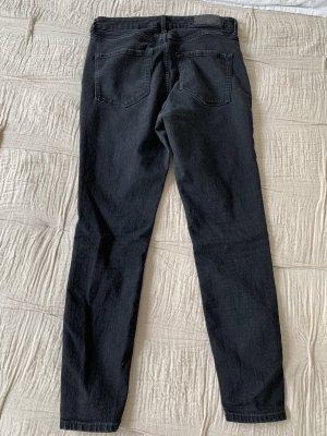 H&M Jeans schwarz 28 super skinny high waist ankle length