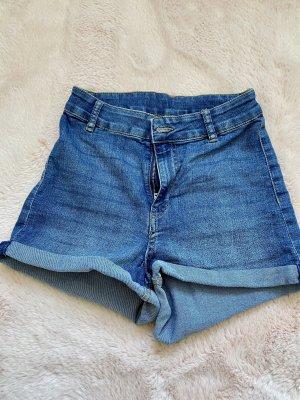 H&M High waist short blauw