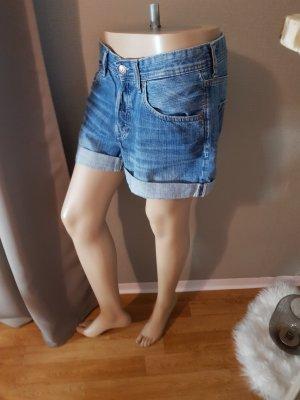 H&M Pantalón corto de tela vaquera azul Algodón