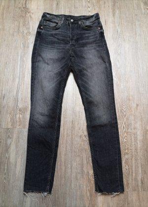 H&M Jeans Skinny Ankle 27 high waist grau schwarz