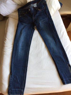 H&M Jeans skinny low waist ankle W26 Reißverschlüsse am Knöchel