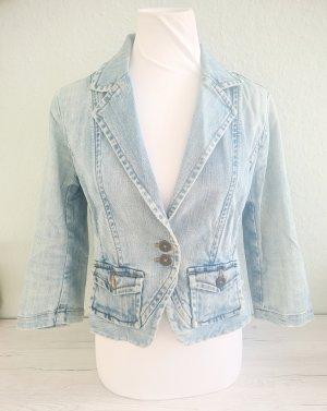 H&M Denim Blazer azure cotton