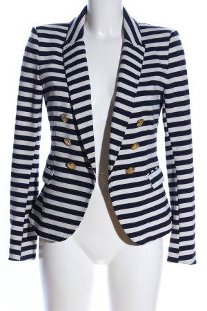 H&M Blazer en jean bleu-blanc motif rayé style d'affaires
