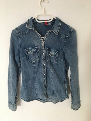 H&M Blusa denim multicolore Cotone