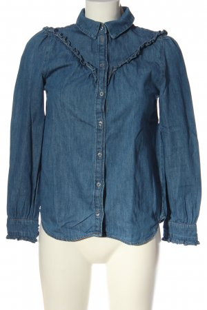 H&M Denim Blouse blue flecked casual look