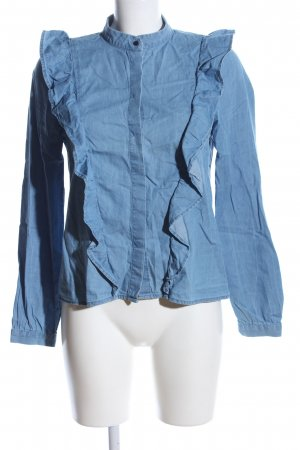 H&M Jeansbluse blau Casual-Look